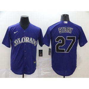 Colorado Rockies Trevor Story Purple Jersey